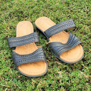 Black Leather Naturalizer Sandals